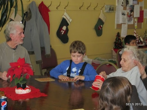 A visit to the local senior center
