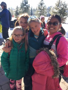 Welch crew girls making lifelong friends on the ski trails.